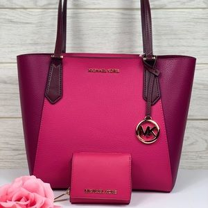 🌸Michael Kors Kimberly SM Bonded Tote & Wallet